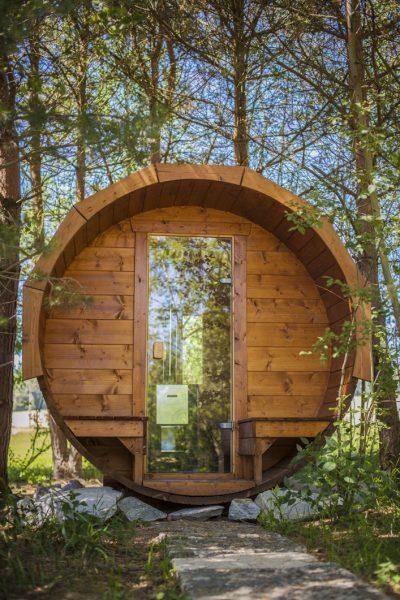 Ubytko Wellnessfishing se sudovou saunou